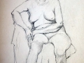 Female nude, sitting