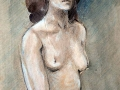 Pastel-paint, female nude