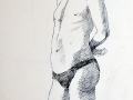 Pen and Ink, Male nude
