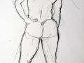 Charcoal, male nude