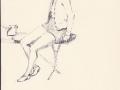 Study of a model sitting,