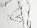 Sketch, female nude standing