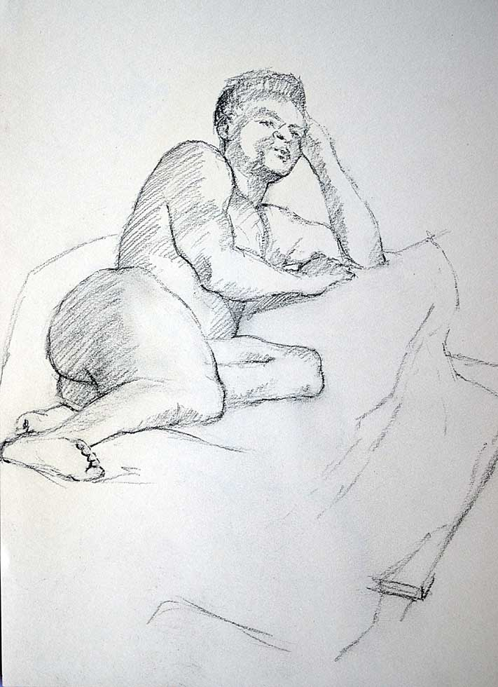 Male nude reclining