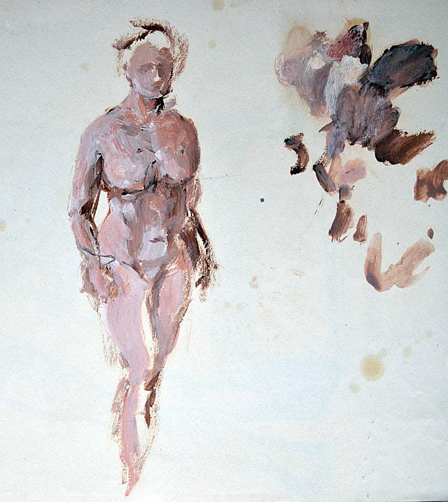 Oil sketch, female nude