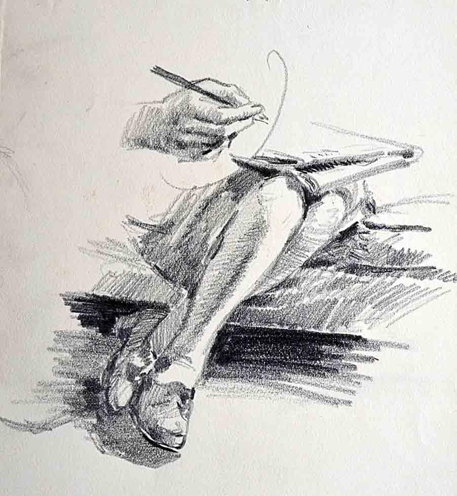 Sketch, legs & hands
