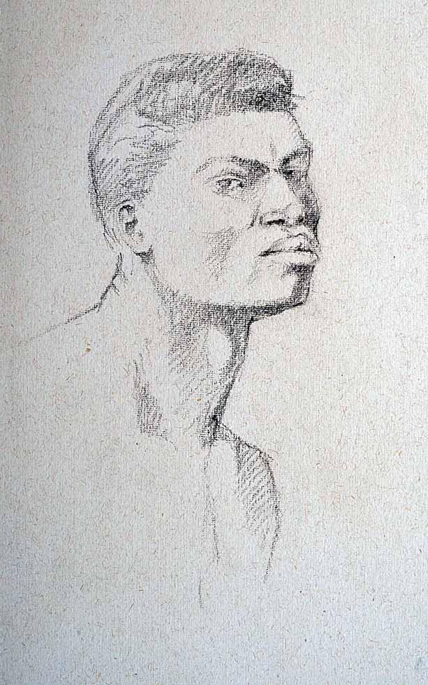 charcoal, head