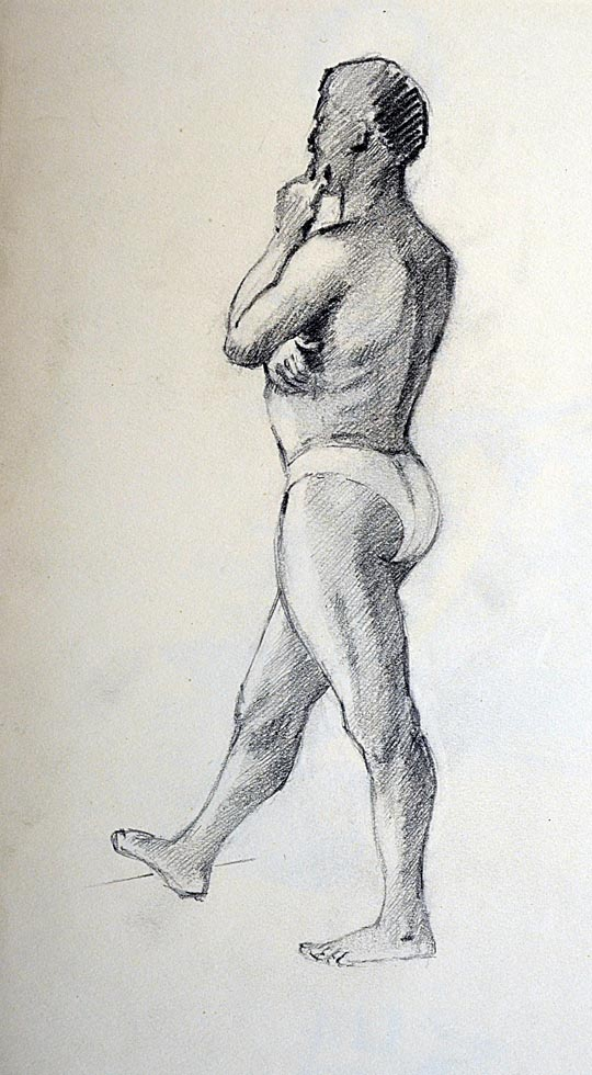 Drawing male standing