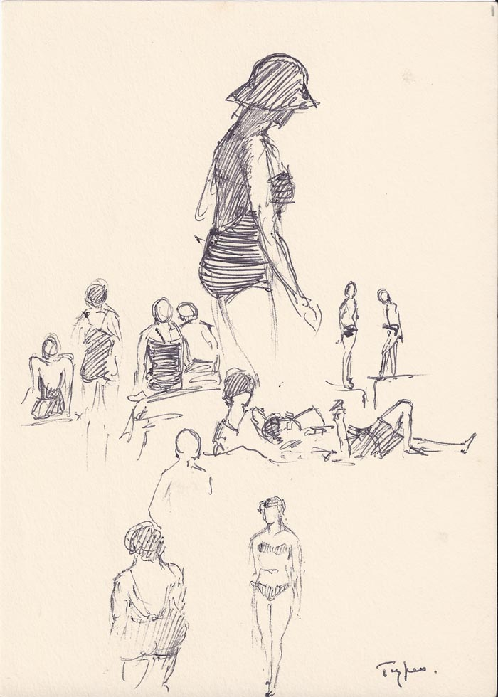people sketch