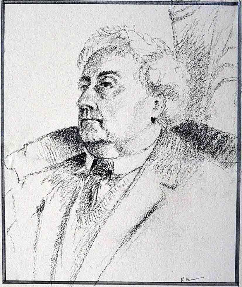 Pastel portrait gentleman
