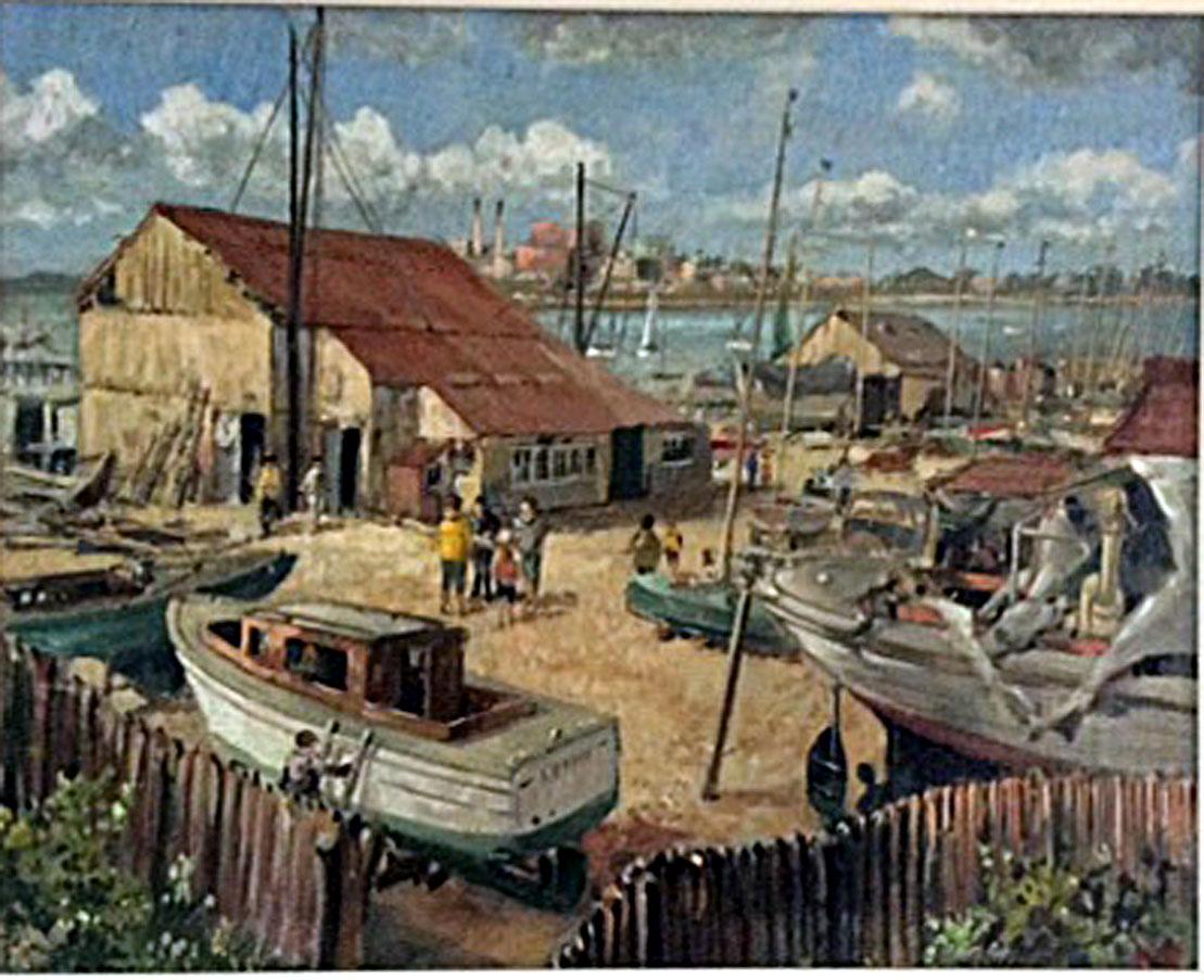 Poole Boat Yard, 1950's