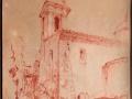 St Paul de Vence 1927 Pastel