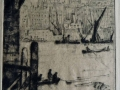 Under London Bridge etching.