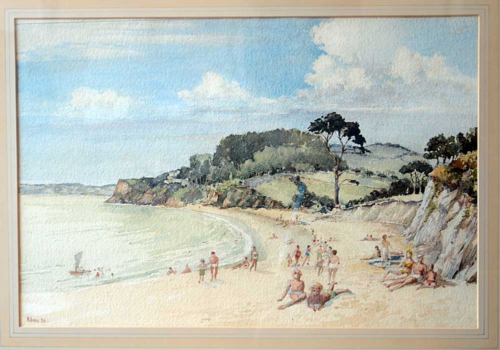 Blackpool Sands Dorset 1954
