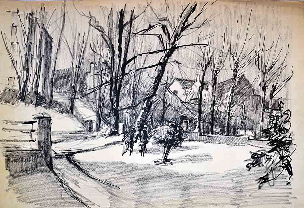 Working drawing,Taymount Grange winter