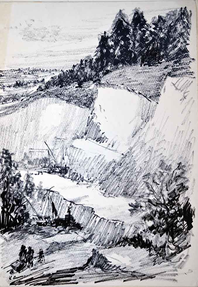 Drawing, Landscape