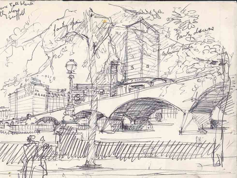 Sketch towards South Bank