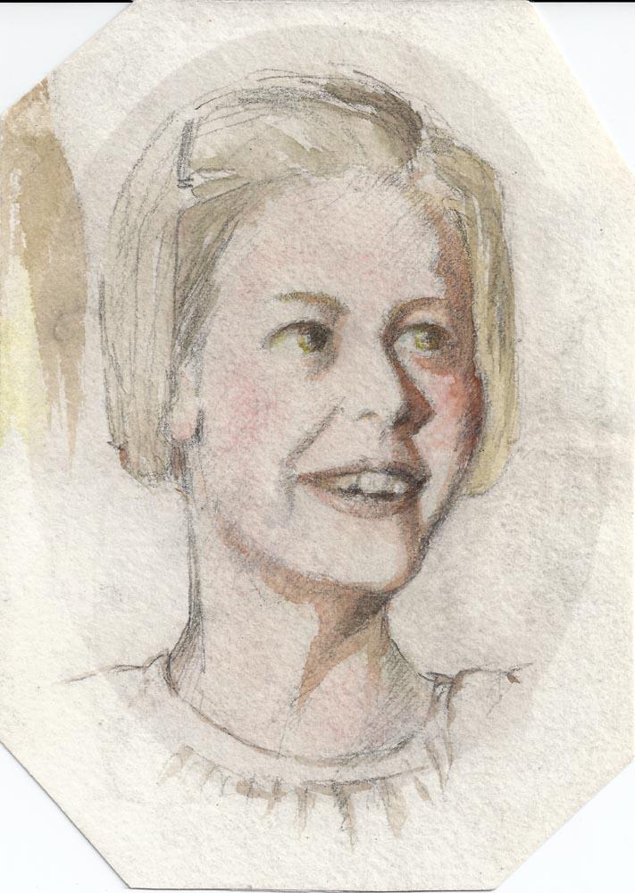 Watercolour Caroline aged 11