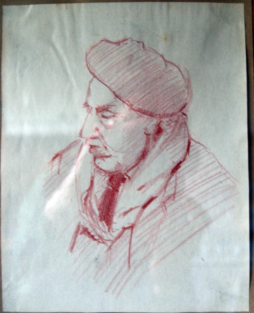 Portrait man in a beret