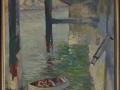 Sark Maseline-harbour, oil on board