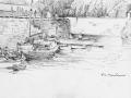 Sark Creux harbour drawing