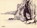 Sark, Dixcart Bay, rock hole