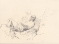 Drawings of holiday makers