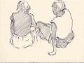 Sketch of Jenni & Caroline, Sark