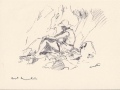 Sketch, Margaret on Beach, Sark