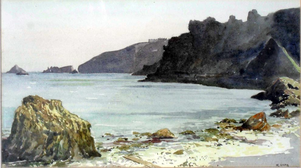 Dixcart Bay, watercolour