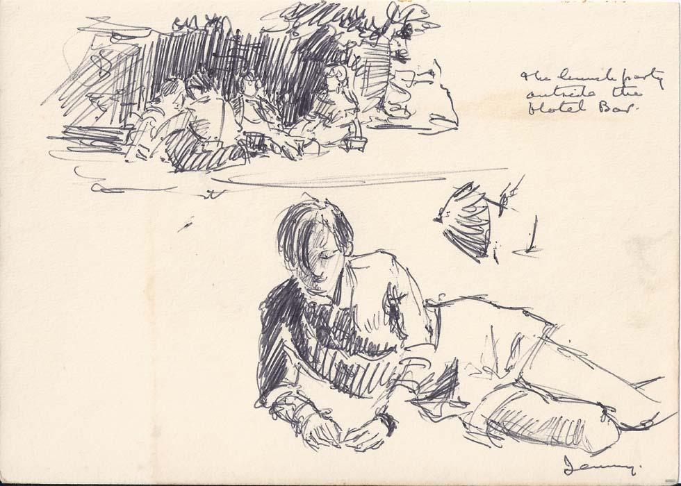 Sketch on Sark Beach.